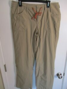 Woman's Brown THE NORTH FACE Nylon Hiking Pants with Draw String-Size 12 Regular