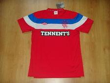Glasgow Rangers Soccer Jersey Scotland Top Football Shirt Maglia Red Trikot S M