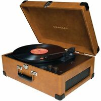 New vintage style TAN Crosley Keepsake record player - turns vinyl to CDS 💿💿💿