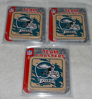 Philadelphia Eagles 12 pc Coasters Cork 3 sets of 4 Beverage Drink collectible