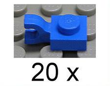 LEGO - 20 x Platte 1x1 blau mit Clip senkrecht / Horizontal / 6019 NEUWARE (e9)