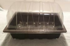 More details for seed trays & clear propagator top lids half size seedling tray choose quantity
