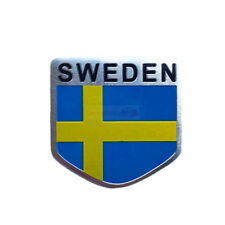 SWEDEN SE Sverige Badge Metal Side Rear Emblem Decals Sticker Car For Volvo Saab