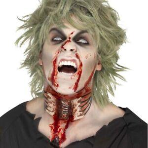 Halsband künstliche Wunde Zombie Halswunde Halloween Collier Horror Halskette