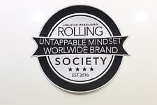 Rolling Society Original Logo Iron On/Sew On Patch