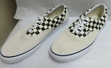 Vans Primary Check Era Skate Shoes Suede Black/Marshmallow M-9.5/W-10.0 NWOB