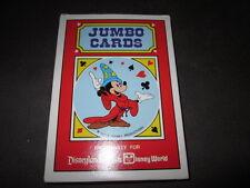 Playing Cards Jumbo Cards Walt Disney Disneyland/Walt Disney World 5 1/8x7 1/8in