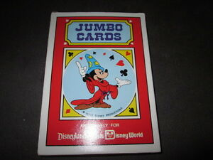 Playing Cards Jumbo Cards Walt Disney Disneyland/Walt Disney World 5 1/8x7 1/8in