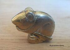 Mouse rat vehicle for elephant god Ganesha brass Hindu Amulet small Rat Statue