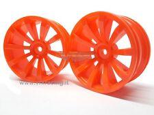 HUB-009-D Coppia cerchi 1/10 (arancione) on-road Esagono Interno 12mm VRX