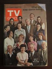 TV Guide August 1971 Cast As The World Turns Newsstand No Label