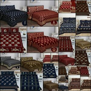 Modern Rajasthani Traditional Bedding Bedspread King Size Cotton Indian Ethnic