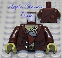NEW Lego Dark Brown FRANKENSTEIN MINIFIG TORSO - Monster Fighter Halloween Upper