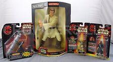 Star Wars Obi Wan Kenobi Mega Collectible Darth Maul Deluxe & Jedi Duel + Watto