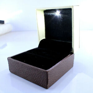 Velvet Ring Box For Engagement Proposal Wedding Luxury Ring Box With Led Light