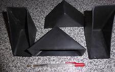 4 X CORNER PROTECTORS - BLACK PLASTIC - PROTECT PICTURE CORNERS TABLES ETC