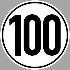 3 Sticker 100 KMH km / H 20cm Speed Car Bus Car TÜV din1451