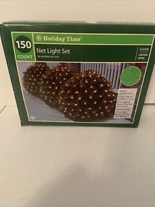 Holiday Time 150-Count Clear Net Lights Green Wire 6' x 4' Christmas Lights