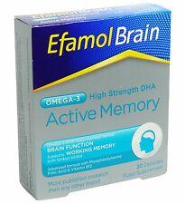 EFAMOL BRAIN - ACTIVE MEMORY 30 CAPSULES - OMEGA-3 - BRAIN FUNCTION