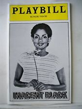 INACENT BLACK Playbill MELBA MOORE / BARBARA MONTGOMERY Flop NYC 1981