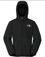 NEW The North Face Girl DENALI HOODIE Jacket Medium TNF Black Fleece