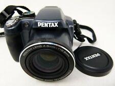 Pentax X90 12.1MP Digital Camera - Gunmetal Blue-Used