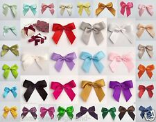 Self Adhesive Large 5cm Pre-Tied 16mm Satin Bows Card Craft Embellishment