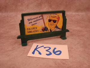 K36B VINTAGE PLASTICVILLE O SCALE RAILROAD SCENERY BILLBOARD SOLAREX SUNGLASSES