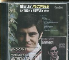 ANTHONY NEWLEY - NEWLEY RECORDED & WHO CANI TURN TO?  on CD