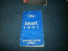 1991 Ford Escort Factory Original Owners Operators Manual Guide Book