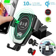 10W Qi Wireless KFZ Ladegerät Handy Halterung Auto Halter Induktive Ladestation