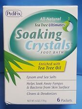PediFix All-Natural Tea Tree Ultimates SOAKING CRYSTALS Foot Bath 6 packs 170g