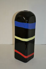 LINO TAGLIAPIETRA MARINA ANGELIN OGGETTI FOUR SIDED BANDED VASE WITH MURRINE