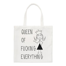 QUEEN Of-King tutto F preventivo Small Tote Bag-Ragazze Divertente spalla