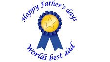 35 Fathers Day Stickers Round Dad Daddy Father's Ribbon Labels 15 Gift Present