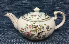 "Aynsley Pembroke Teapot with Lid Gold Trim Large 10.5"" England Excellent"