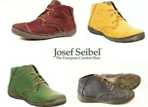 New Leather comfort lace up ankle boots - Josef Seibel Shoes Germany Fergey 18