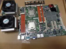 ASUS Z8NA-D6C, Socket 1366 Motherboard wiht 2 x Xeon E5620, fans  and I/O shield