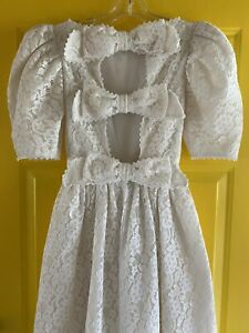 Vintage VICTOR COSTA Lace Wedding Formal Gown Dress USA Sz 4 w/tags Attached