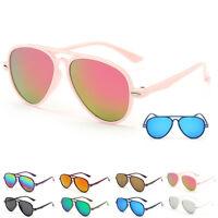 Kids Baby Children Color Film Goggles Girls Boys Retro New Anti-UV Sunglasses