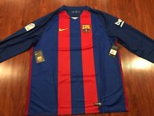 2016-17 Nike FC Barcelona Men's Home Long Sleeve Soccer Jersey XXL 2XL Barca