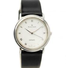 Blancpain Villeret 989 34mm Steel White Roman Dial Leather Automatic Men's Watch