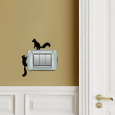 DIY Funny Squirrel Switch Stickers Cute Wall Decals Bedroom Parlor Home Decor