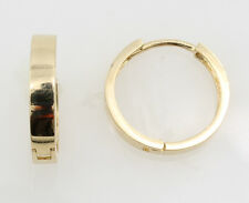"""14K Yellow Gold 3mm Width Small Round Polished Hoop Huggies Earrings 14mm 9/16"""""""