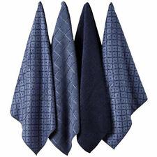 Ladelle Set of 4 Microfibre Carver Navy Tea Towels 45cm X 70cm