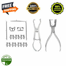Kit Of Rubber Dam Starter Of 12 Pcs With Frame Punch Clamps Dental Instruments