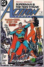 ACTION COMICS #584 DC 01/87 NEW TEEN TITANS JOHN BYRNE ART STARTS + POSTCARD NM