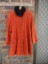 LEATHER COAT NEW RRP $1,590 SIZE 14 NO 35