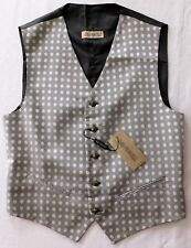"Carlo Pignatelli mens waistcoat black and white Floral tuxedo vest M 40"" NEW"