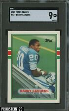 1989 Topps Traded Football #83T Barry Sanders Lions RC Rookie HOF SGC 9 MINT